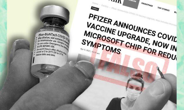 Pfizer no anunció que la actualización de su vacuna incluye un chip de Microsoft