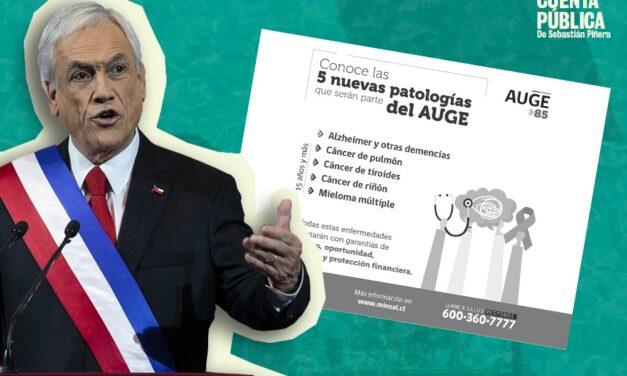Cuenta Pública: es verdadero que se han incorporado cinco nuevas patologías al plan Auge