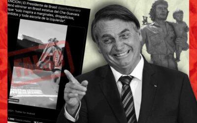 Es falso que Bolsonaro pidió el retiro de una estatua del Che Guevara