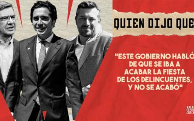 #QuiénDijoQué… «Este gobierno habló que se iba a acabar la fiesta de los delincuentes y no se acabó»
