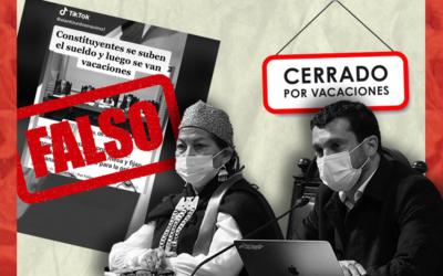 Es falso que los constituyentes se vayan de vacaciones, como se viralizó en TikTok