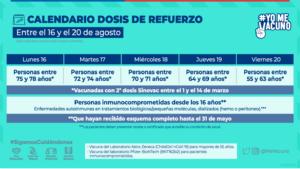 dosis de refuerzo para vacunados con Sinovac