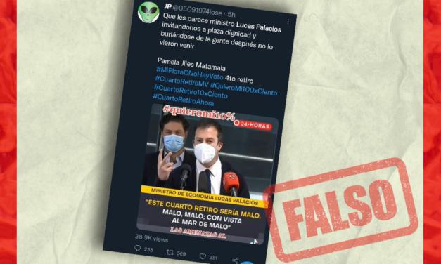 Es falso el video de Lucas Palacios viralizado en redes