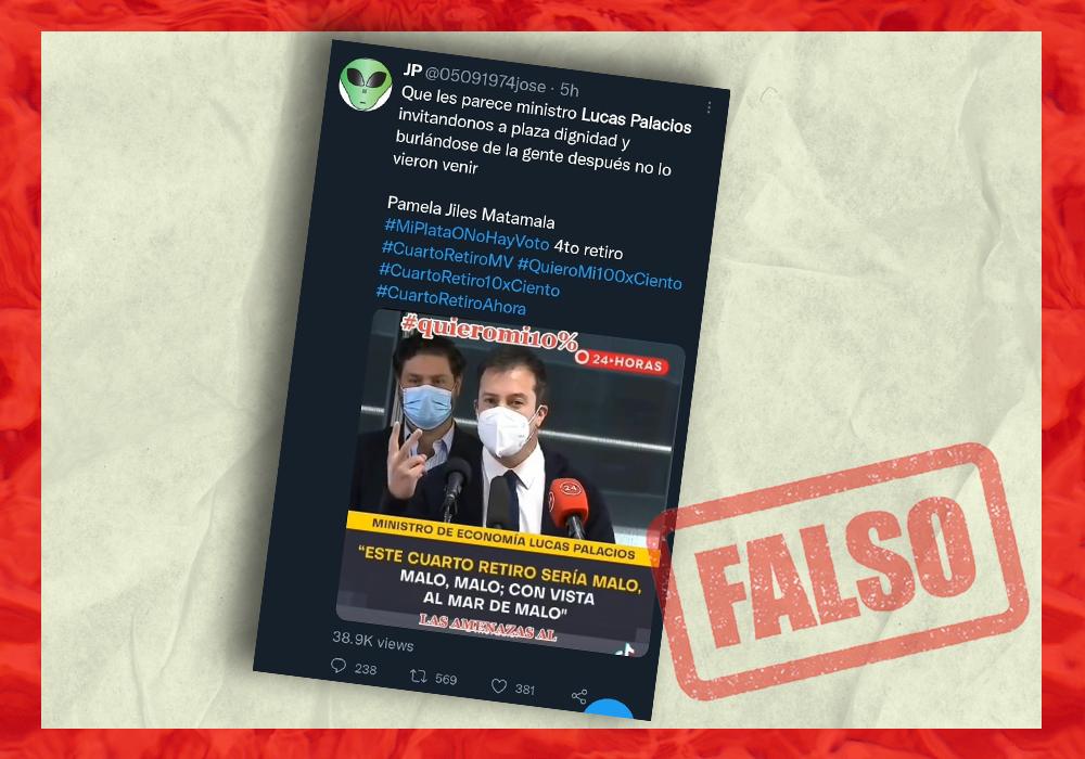 video de Lucas Palacios es falso