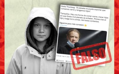 Es falso que Greta Thunberg dijo que el planeta no puede aguantar que tengamos hijos