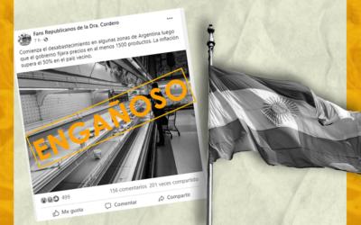 No, esta fotografía no representa el desabastecimiento en Argentina