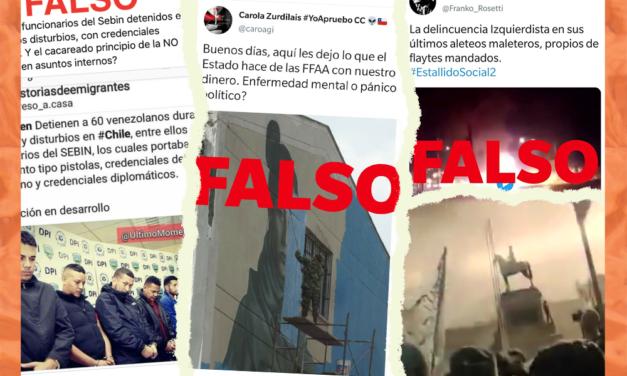 A dos años del 18-O: Desinformaciones sobre las protestas en Chile