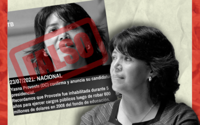 Es falso que Yasna Provoste robó 600 millones de dólares cuando era ministra de Educación
