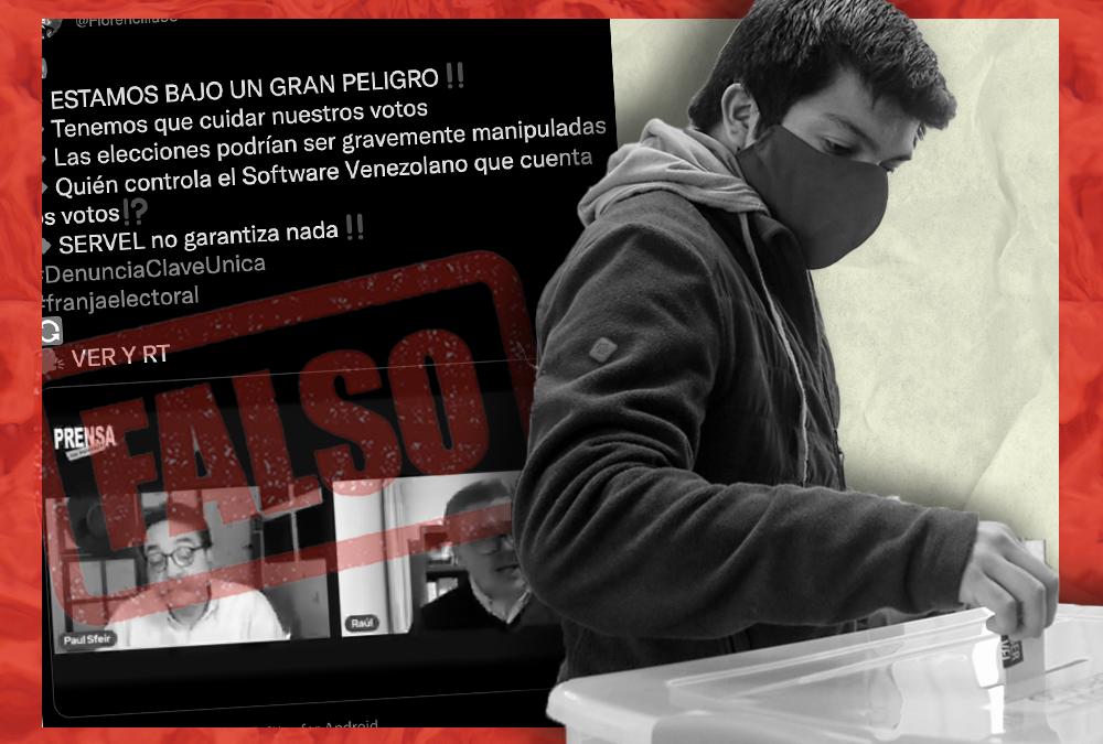 No, el Servel no ocupa un software español ni venezolano para el conteo de votos